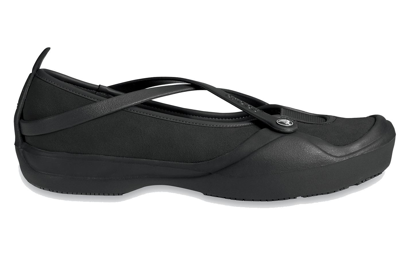 BALERINY CROCS CELESTE SUEDE 10064 BLACK-50% - czarny